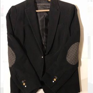 Plush Soft Zara Fitted Blazer with Elbow Patches